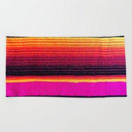 Magenta Sky Serape Beach Towel