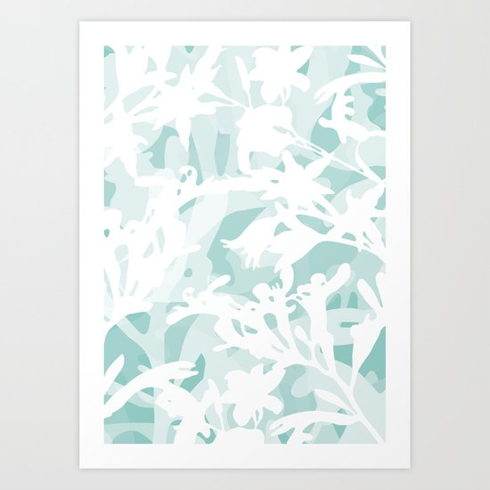Flowers and nature Art Print