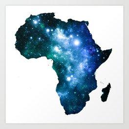 Africa Universe Blue Green Art Print