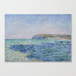 Shadows on the Sea at Pourville by Claude Monet Canvas Print