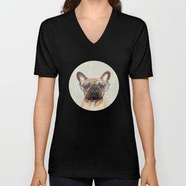 Mr French Bulldog Unisex V-Neck