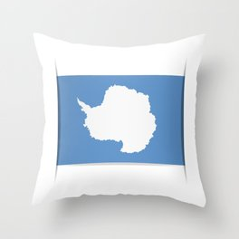 Flag of Antarctica. Vector illustration of a stylized flag. The slit in the paper with shadows. Throw Pillow