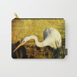 Fishing Great Egret Art Carry-All Pouch