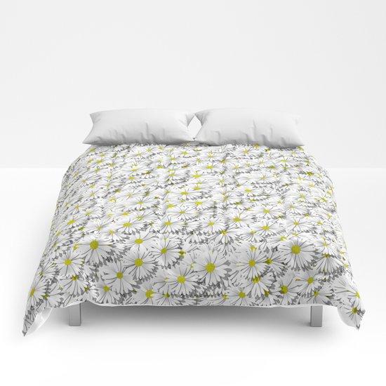 white daisy flowers Comforters
