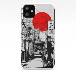 Tokyo street sunrise iPhone Case