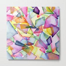 Watercolor Candy Glass Harmony Metal Print