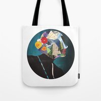 wonderland Tote Bags featuring Wonderland by Lydia Coventry