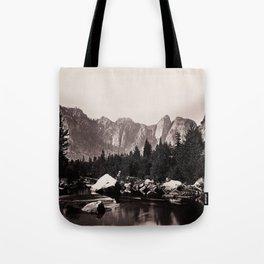 Merced River, Yosemite Valley, California, ca. 1865 Tote Bag