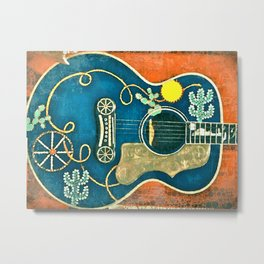 Old Western Guitar Metal Print