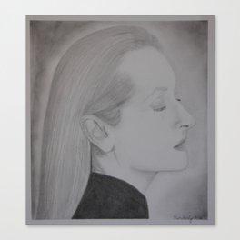 Meryl Streep Profile Canvas Print