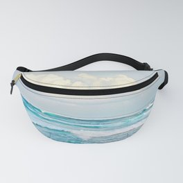 Blue Water Fluffy Clouds Fanny Pack