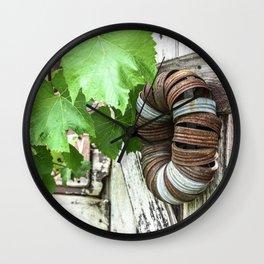 Rusty Wreath Wall Clock