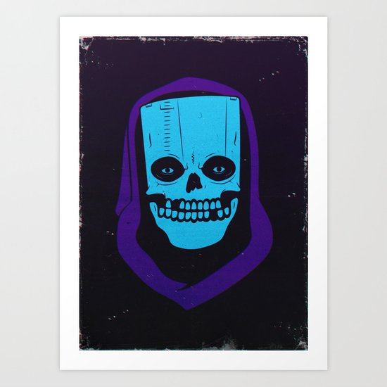8-BIT MONSTER / CARTRIDGE GHOST Art Print