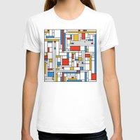 fibonacci T-shirts featuring Mondrian meets Fibonacci by Studio Fibonacci