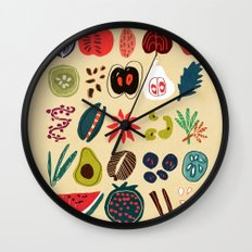 Fruit and Spice Rack Wall Clock