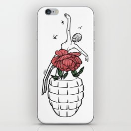 Th flowery bomb iPhone Skin