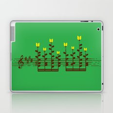 Music notes garden Laptop & iPad Skin