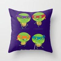 turtles Throw Pillows featuring Turtles by Maria Jose Da Luz