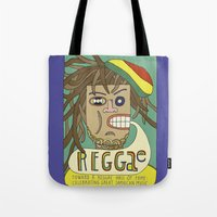 reggae Tote Bags featuring Reggae by Timea Koncz