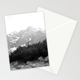 Tatry in Black and White Stationery Cards