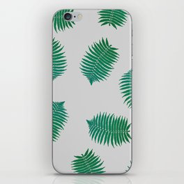 Turquoise leaves nature pattern iPhone Skin