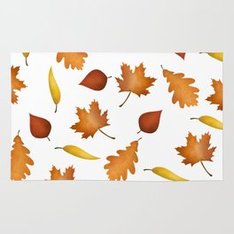 Fall Leaves Pattern Rug