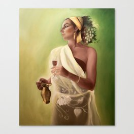 Goddess of wine and fruit Canvas Print