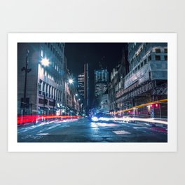 City Trails Art Print