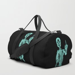 X-ray Bird / X-rayed skeleton demonstrating international hand gesture Duffle Bag