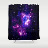 nebula Shower Curtains featuring nebulA. by 2sweet4words Designs