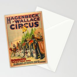 Hagenbeck-Wallace Circus Poster Stationery Cards