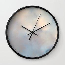 Ireland's sky - Pastel Cloudscape Wall Clock
