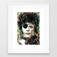bowie Framed Art Prints featuring BOWIE by Vonis