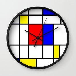 Mondrian #64 Wall Clock