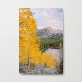 ROCKY MOUNTAIN AUTUMN - COLORADO NATIONAL PARK - BEAR LAKE - LANDSCAPE PHOTOGRAPHY PRINT Metal Print