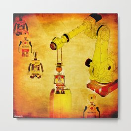 Oiling of robots Metal Print