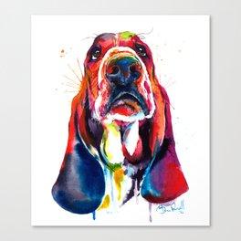 Basset Hound Illustration Canvas Print