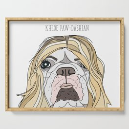 Celebrity Dogs-Khloe Pawdashian Serving Tray