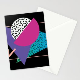 Memphis pattern 39 - 80s / 90s Retro Stationery Cards