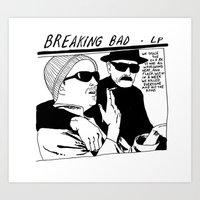 sonic youth Art Prints featuring breaking bad vs. sonic youth by carolin walch