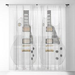Les Paul Guitar Sheer Curtain