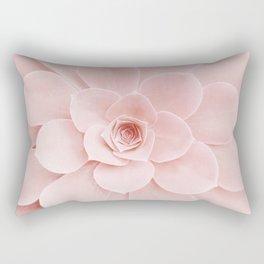 Blush Succulent Rectangular Pillow