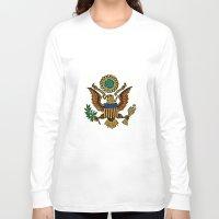 patriotic Long Sleeve T-shirts featuring Patriotic Eagle by manderjack