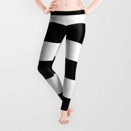BLACK & WHITE STRIPES XL Leggings
