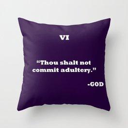 Ten Commandments ....SIX Throw Pillow