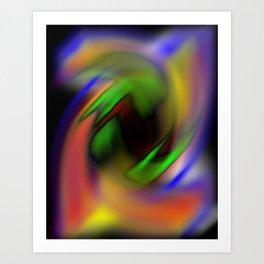 Curves of Color Art Print