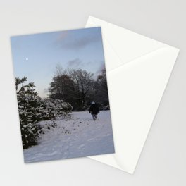 New Forest in the snow Stationery Cards