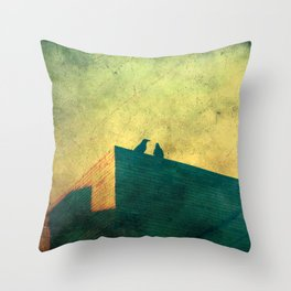 Look up for those black guardians Throw Pillow