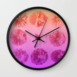 Purple Gradient Flower Grid Wall Clock