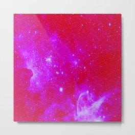 Bright Pink, Fuschia Galaxy Metal Print